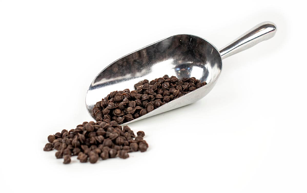Stainless steel scoop with Chocolate Fudge Balls 6mm(192122.2)