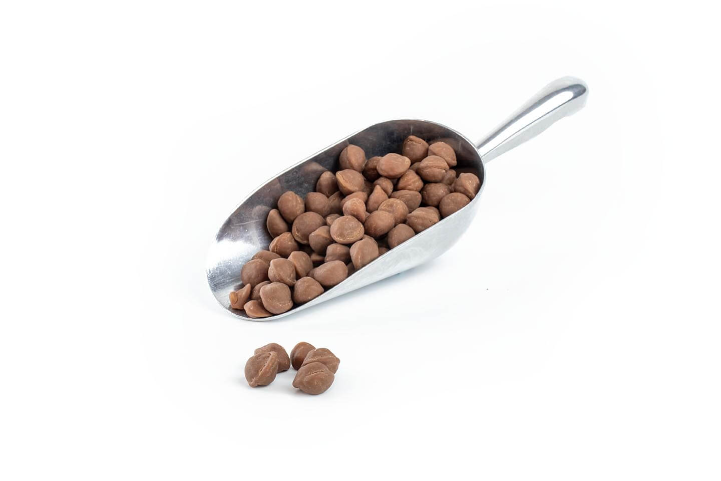 192204 - 10mm Fudge Balls Chocolate Coated in stainless steel scoop