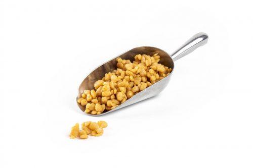 Organic Honeycomb Kibble 2-10mm CB Coated in stainless steel scoop