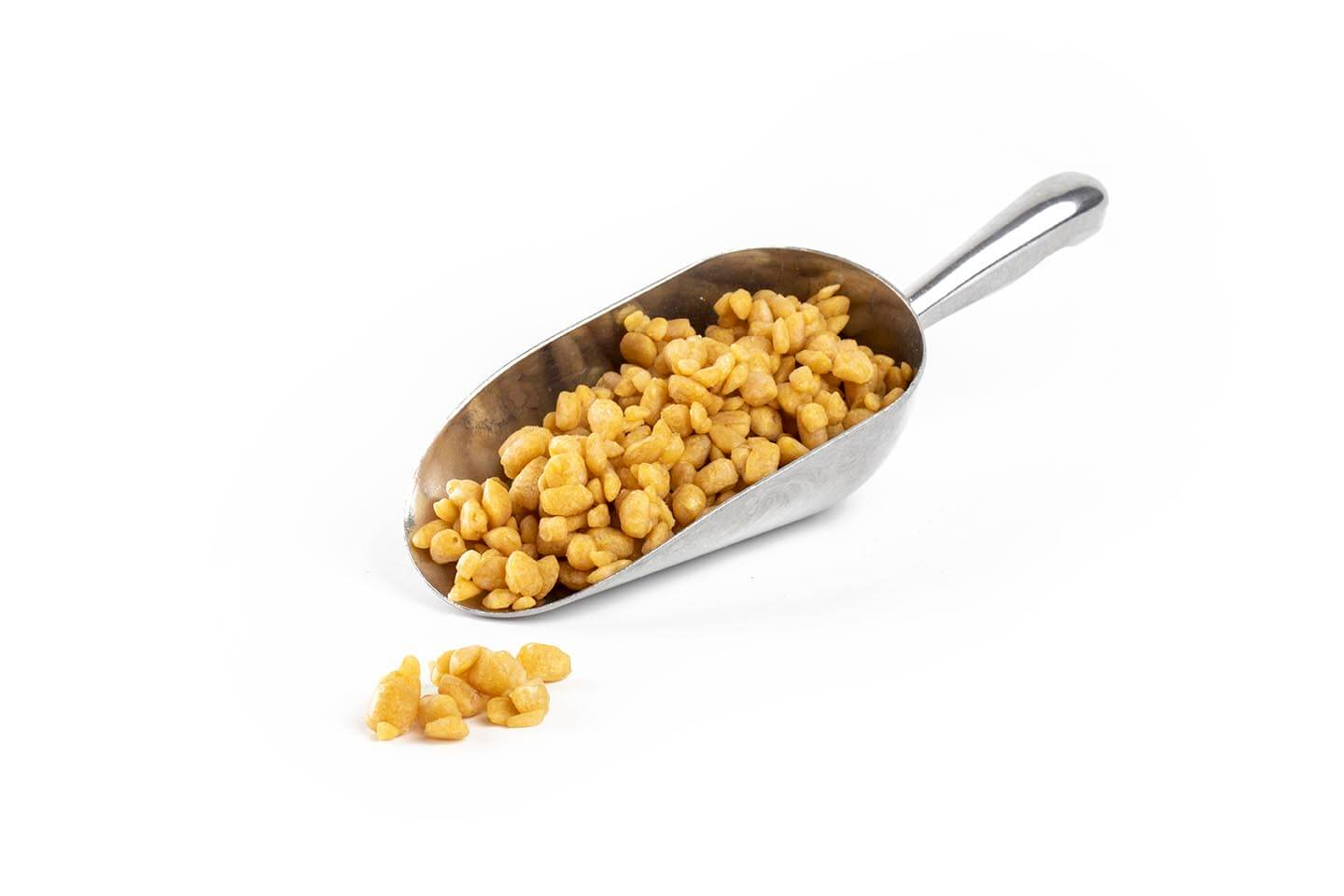 Organic Honeycomb Kibble 2-10mm CB Coated in stainless steel scoop
