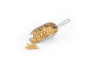 192244.0 Cookie Dough in stainless steel scoop on white background