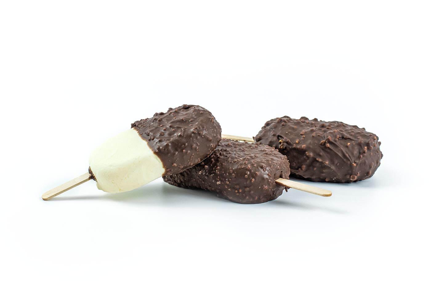 3 Ice Cream Bars on white bg