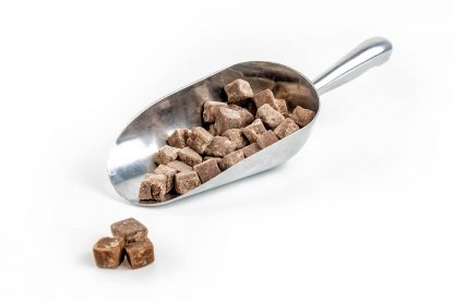 3003 - Chocolate Fudge Pieces in stainless steel scoop