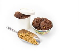 Coffee Crunch Ice creams (tub and bowl with scoop of soft kibble)