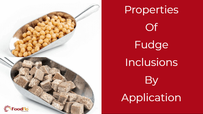 Properties of Fudge Inclusions By Application