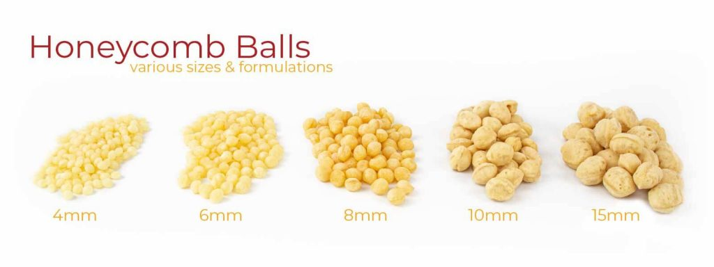 Honeycomb Balls - variety of sizes and formulations - 4,6,8,10, & 15mm
