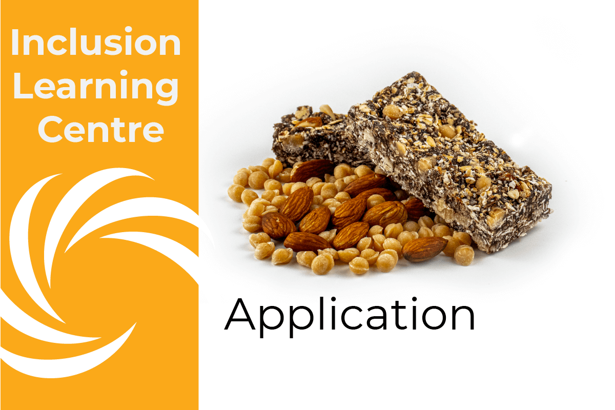 Inclusion Learning Centre - Application - Caramel Fudge, almonds and muesli bar image