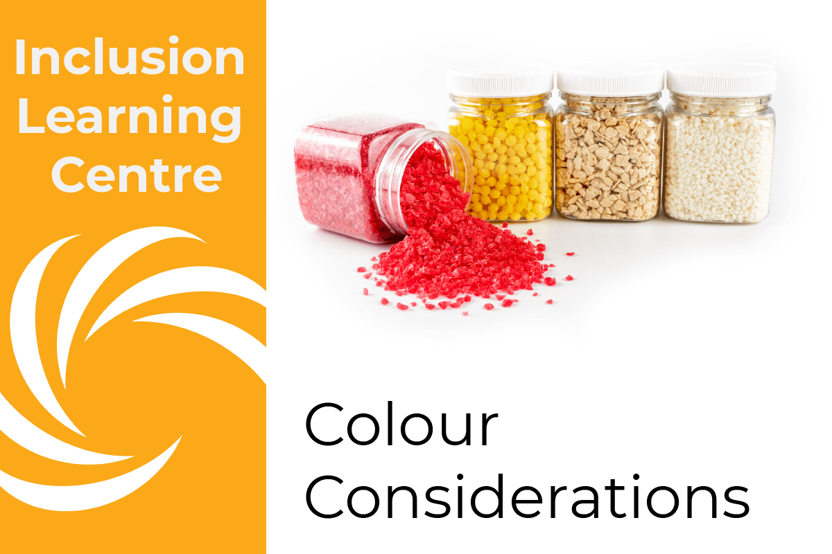 ILC Colour Considerations - 4 jars of colour inclusions
