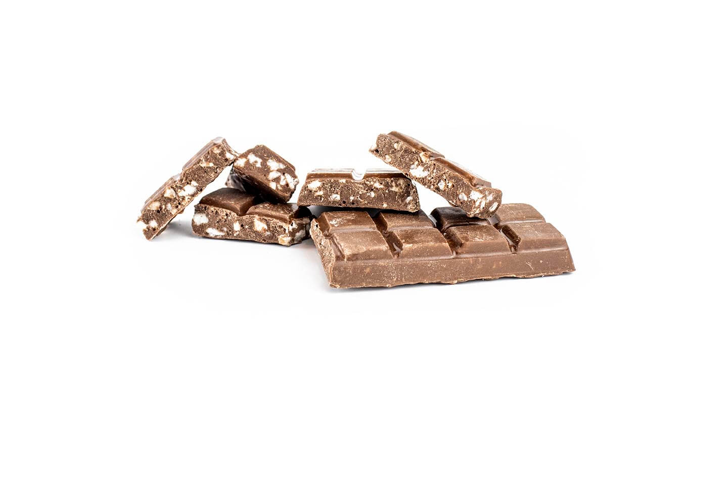 White Peppermint Soft Kibble in Choc (milk choc bar and pieces)